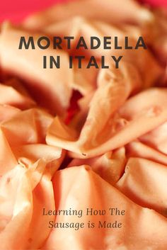 Learning how to make the best mortadella in Italy! Just don't call it baloney!