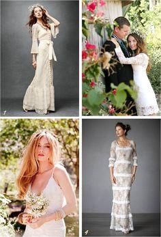 1970s wedding dress inspiration