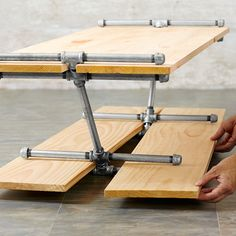 When you need extra floor space, the table disassembles in seconds.