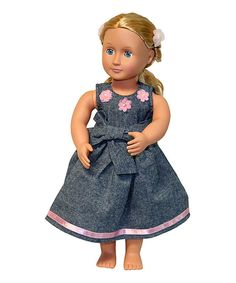 Love this Gray Party Doll Dress by The Serendipity Doll Company on #zulily! #zulilyfinds