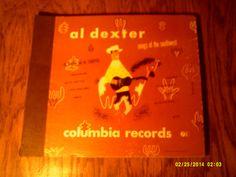 Vintage Al Dexter 78 RPM Record Set Southwest Music Rockabilly Records Hillbilly Records Pistol Packin Mama 78 RPM Records Al Dexter