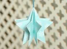 paper christmas ornament star