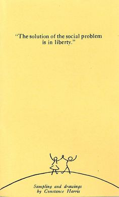 """""""The solution of the social problem is in liberty."""" - Frederic Bastiat"""