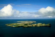 An aerial view of Tory - Toraigh Island. Has century Bell tower, 12 century TauCross, ancient fort, The Wishing Stone and more. Population Size 3 km x 1 km. Celtic Christianity, Irish Images, Round Tower, Irish Landscape, Republic Of Ireland, Donegal, Island Life, Historical Sites, Aerial View