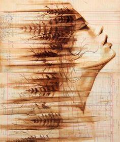 michael aaron williams art | Michael Aaron Williams - Coffee Paintings #art #painting #coffee