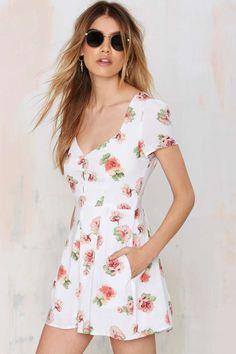Floral Romper ==