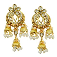 Look feminine and charming by wearing these golden coloured earrings for women from Shipgig.