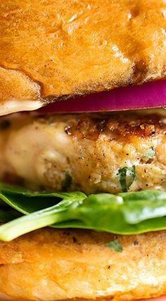 Salmon Burgers with Cajun Remoulade Sauce