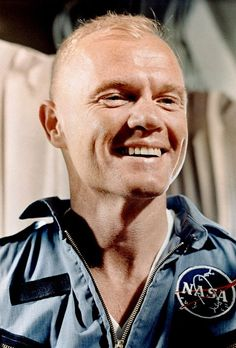 In this Feb. 20, 1962 photograph, Glenn smiles after the completion of his three-orbit mission into space. Although the mission was a success, it was nearly a disaster. During his re-entry into the Earth's atmosphere, a warning light went on that indicated his capsule's heat shield was loose.
