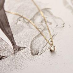 Simple little diamond necklace.