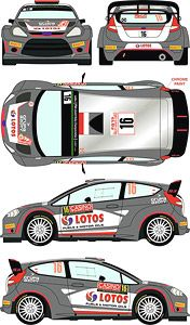 Ford Fiesta RS WRC 2015 Monte Carlo Rally Car No.16 (Decal)