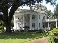 Antebellum Plantation-style home. South Mississippi