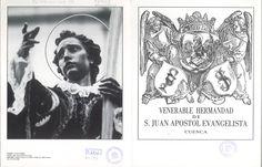 Semana Santa 1988 Folleto de 3 h. plegadas convocando a Junta General Ordinaria a los miembros de la Hermandad de San Juan Apóstol Evangelista