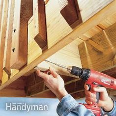 If your deck railing feels shaky and is screwed to a single rim joist, add joist blocking to stabilize it.