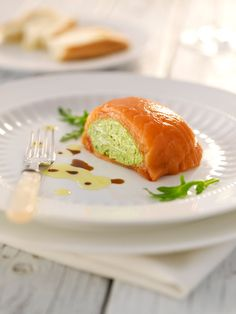 Smoked Salmon Filled with Avocado Mousse Served with Toast | Australian Avocados