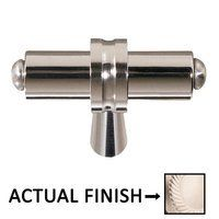 Colonial Bronze - Split Finish - 2 Overall Length T Shape Knob In Matte Satin Nickel And Matte Satin Nickel Cabinet Knobs, Cabinet Hardware, Kitchen Hardware, Matte Satin, Smokey Quartz, Polished Nickel, Can Opener, Colonial, It Is Finished