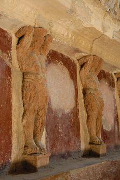Pompeii-Forum Baths-Tepidarium-warm room-Terracotta Telamons