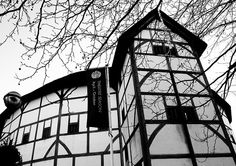 shakespeare's globe black and white - Google Search