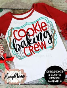 Cookie Baking Crew – Embroidery and Cutting Options – HoopMama