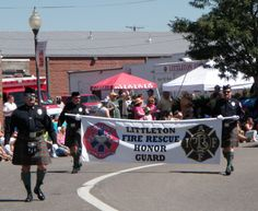 Littleton Fire Rescue Honor Guard in the Western  Welcome Week Parade, Littleton, CO