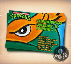 Teenage Mutant Ninja Turtle Mike Eye-Birthday by ForcesOne on Etsy