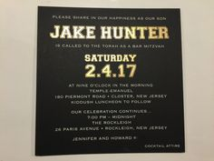 So sporty. The back of this invite is a custom NFL logo with Jake's initials. So masculine! Box Invitations, Bar Mitzvah Invitations, Custom Invitations, Invite, Nfl Logo, Torah, Bat Mitzvah, Initials, Sporty