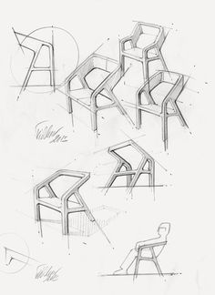 New Furniture Design Sketches Projects. A Chair by Thomas Feichtner Furnituredesigns Modular Furniture, Art Deco Furniture, Furniture Logo, Furniture Layout, Furniture Arrangement, Metal Furniture, Furniture Design, Luxury Furniture, Furniture Sketches