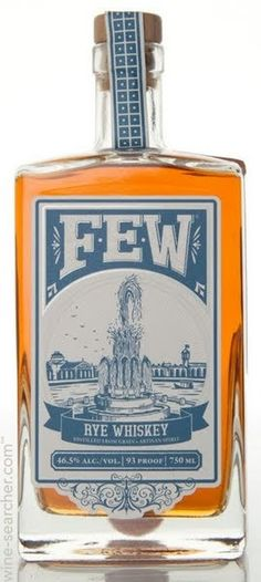 FEW Rye whiskey, 90/100pts//JL Nose: 22 Taste: 23 Finish: 23 Balance: 22