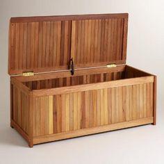 Wood Outdoor Storage Box | World Market