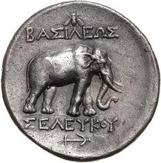 Tetradracma - argento - Pergamo (281-280 a.C.) - BAΣIΛEΩΣ // ΣEΛEYKOY elefante andante a dx - Münzkabinett der Staatlichen Museen Berlin