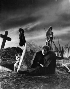 Colin Clive and Dwight Frye in a Frankenstein production still (1931)