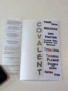 Chemistry Foldables...Covalent Bonds