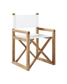 Director's Chair - Solid Canvas White