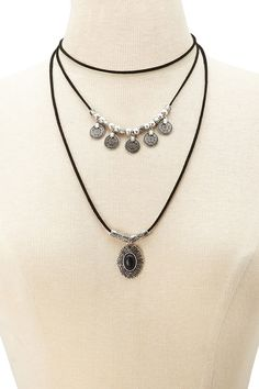 Faux Stone Layered Necklace | Forever 21 - 1000177777