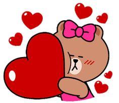 Cute Love Images, Cute Cartoon Pictures, Cute Love Gif, Cute Love Cartoons, Gif Pictures, Love Pictures, Love Heart Gif, Love You Gif, Animated Heart