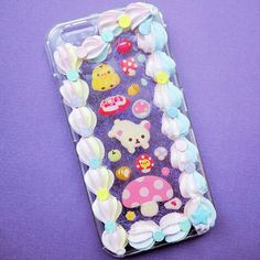 """Found some cool stickers! This case """"design"""" is borrowed (stolen)  from  my friends @magicalgirlcafe and @mariakkuma_.  I will be listing this in my new shop update.  #panda #cabochon #decoden #resin #pocky #donut #rilakkuma #catscatscats #korilakkuma #whippedcream #chocolatechipcookie #icecreamcone #phonecase #sugarcookie #polymerclay #スイーツデコ #cakeicing #sweetsdeco #cakemaking #neko #queequeg #icing #frosting #bakery #アイシングクッキー #クッキー #kawaii #kawaiicase #cakeart #phonecase"""