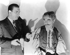 The Wolf Man - Promotional Shot - Lon Chaney Jr. and Bela Lugosi