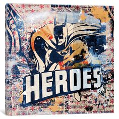 East Urban Home Heroes Graphic Art on Wrapped Canvas Size: