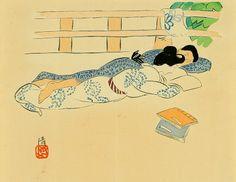 Couple, c.1910-20 by Kobayakawa Kiyoshi born 1896 in Hakata, Japan died 1948 in Tokyo, Japan