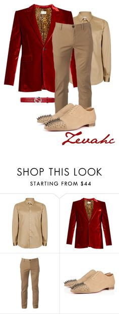 """""""New year's outfit option!!"""" by zevahcmary ❤ liked on Polyvore featuring Topman, Yves Saint Laurent, Urban Pipeline, Gucci, men's fashion and menswear"""