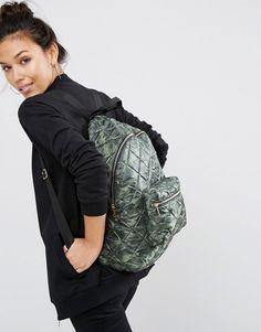 Image 3 - ASOS - Sac à dos en nylon matelassé - Camouflage
