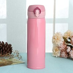 CHEETOP Vacuum Cup Stainless Steel Mug Pearl Pink 16Ounce 1765 oz Pearl Pink *** More info could be found at the image url.-It is an affiliate link to Amazon.
