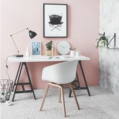 Print [butterflychair] ..this office-space is so stylish  Love it! Cred: @norsuinteriors @greenhouseinteriors