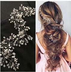 Trendy Hair Long Styles Prom Half Up Curls Ideas Long Hair Wedding Styles, Elegant Wedding Hair, Wedding Hair And Makeup, Wedding Hair Accessories, Long Hair Styles, Elegant Hairstyles, Bride Hairstyles, Headband Hairstyles, Bridal Braids