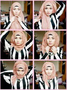 ♥ Muslimah fashion & hijab style How to do it Hijab Chic, Stylish Hijab, Islamic Fashion, Muslim Fashion, Hijab Fashion, Hijab Dress, Hijab Outfit, Muslim Girls, Muslim Women