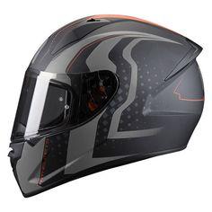 Κράνος Μηχανής MT Stinger Warhead Matt Black-Stalker-Orange Helmets, Orange, Black, Black People, Hard Hats, All Black, Helmet