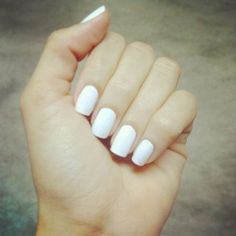 White nails style