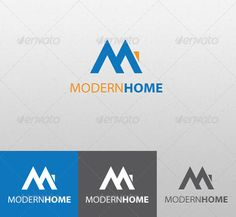 Modern Home - Logo Design Template Vector #logotype Download it here: http://graphicriver.net/item/modern-home/1963443?s_rank=309?ref=nexion