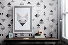 Triangle Wall Decal  Repositionable wall mural  by patternsCOLORAY