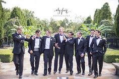 The groom and groomsmen  | Tulsa | Ely Fair Photography